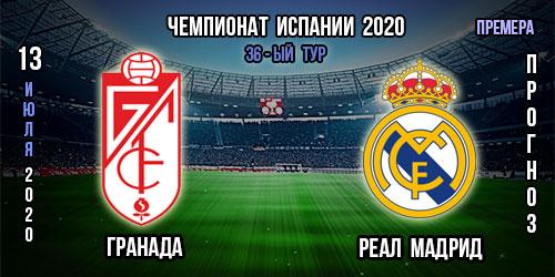 Гранада – Реал Мадрид. 13.07.2020г