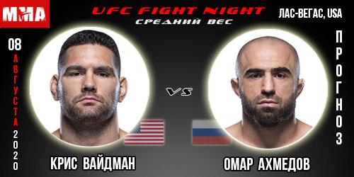 Прогноз на бой Крис Вайдман - Омар Ахмедов
