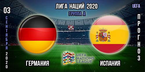 Германия – Испания. Прогноз. 03.09.2020