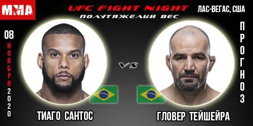 Прогноз. Сантос - Тейшейра. UFC