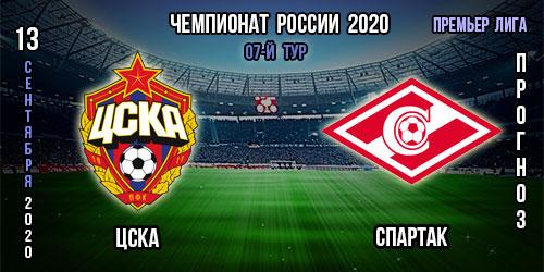 ЦСКА – Спартак. Прогноз. 13.09.2020