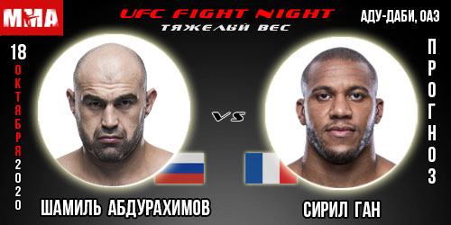 Прогноз на бой Сирил Ган - Шамиль Абдурахимов. UFC