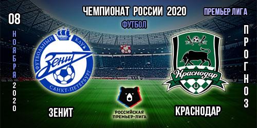 Прогноз на матч Зенит – Краснодар