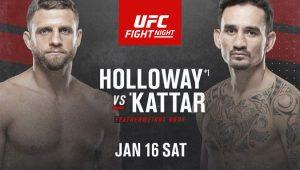 Прогнозы. UFC 17.01.2021. Холлоуэ - Каттар