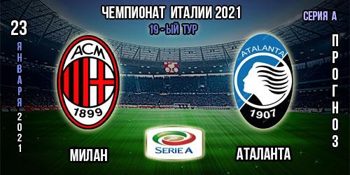 Милан – Аталанта. Прогноз. 2021