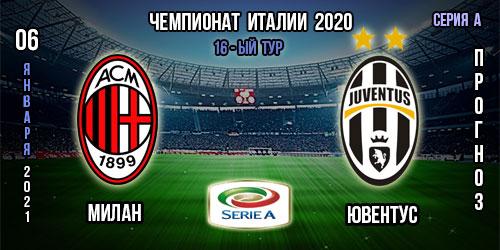 Милан – Ювентус. Прогноз. 06.01.2021