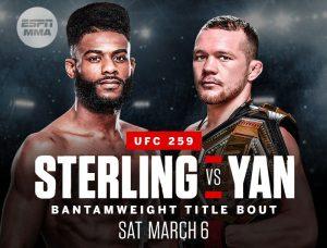 UFC 259. Расписание. Прогнозы