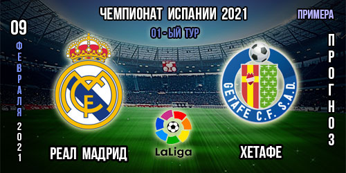 Реал Мадрид – Хетафе. Прогноз. 09.02.2021