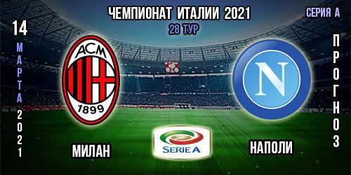 Милан – Наполи. Прогноз. 14.03.2021