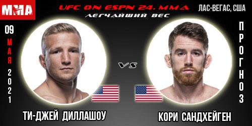 Прогноз. Диллашоу - Сандхейген. UFC