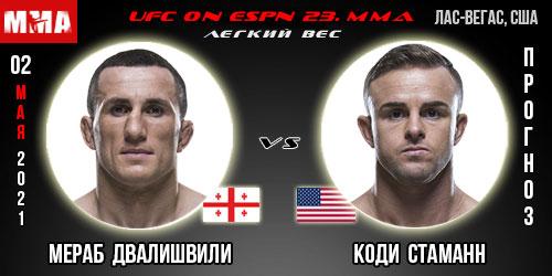Прогноз на бой Двалишвили - Стаманн. UFC