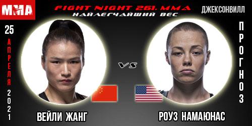 Прогноз Жанг - Намаюнас. UFC 261
