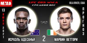 Прогноз на реванш Адесанья - Веттори. UFC
