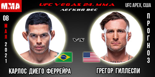 Прогноз Диего Феррейра - Гиллеспи. UFC