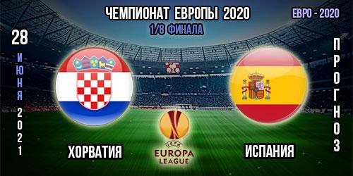 Хорватия – Испания. Прогноз. Евро 2020.