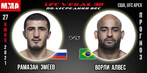 Прогноз. Эмеев - Алвес. UFC
