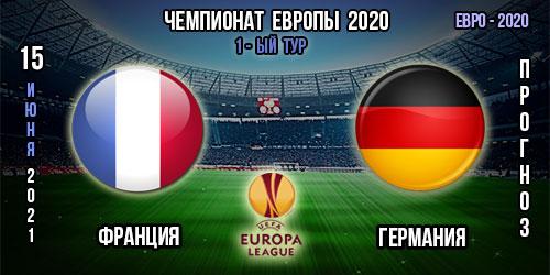 Франция – Германия. Прогноз. Евро 2020