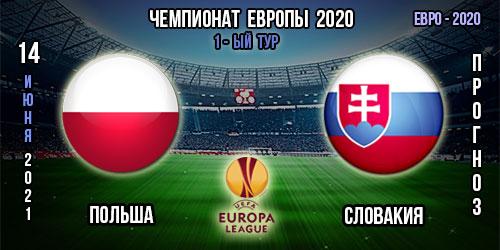 Польша – Словакия. Прогноз. Евро 2020