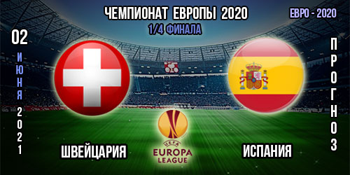 Швейцария – Испания. Прогноз. Евро 2020