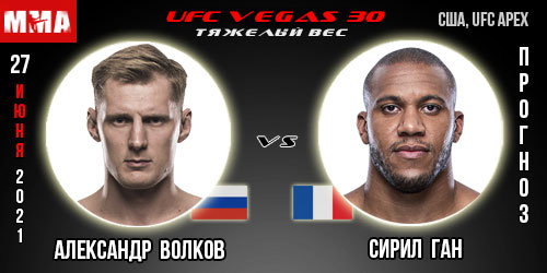 Прогноз. Волков - Ган. UFC