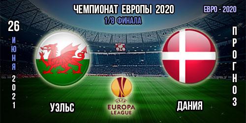 Уэльс – Дания. Прогноз Евро 2020