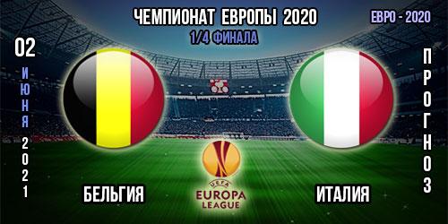 Бельгия – Италия. Прогноз Евро 2020.