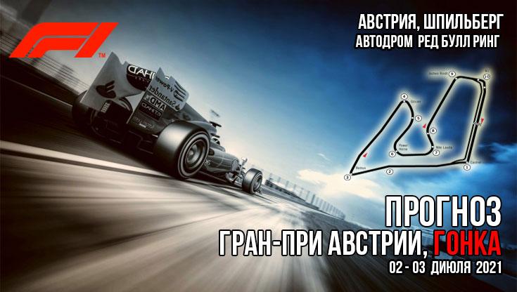 Формула-1. Сезон 2021. Австрия, гонка. Прогноз