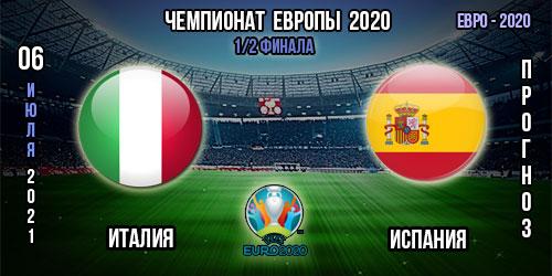 Италия – Испания. Прогноз. Евро 2020