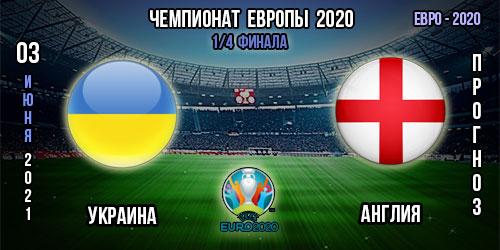 Украина – Англия. Прогноз. Евро 2020.
